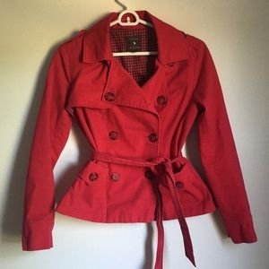 Forever 21 Red Fall Trench Coat